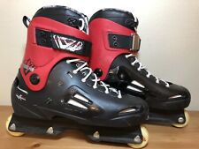 ROLLERBLADE Solo Tribe HD Mens 11 Aggressive In-line Skates Blank Black Red