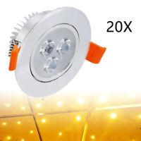 20 x LED Einbaustrahler Strahler Einbauleuchte Decken Leuchte 3W Set Warmweiß