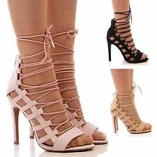 High Heel (3-4.5 in.) Lace-up Party Slim Shoes for Women