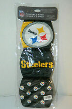 Pittsburgh Steelers FACE MASK 3 pack NFL official face Cover Hand washable
