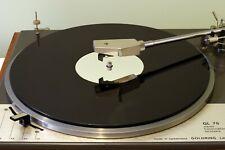 Gloss Black & Mirror Audiophile Acrylic Turntable Platter Mat. fits LENCO!