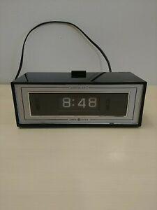Vintage GE General Electric Alarm Clock Flip Dial 8142-4 Retro TESTED READ