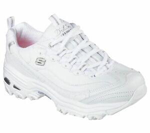 Skechers / D'Lites / Fresh Start / White/Silver / Air Cooled Memory Foam Reg $70