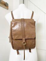 Hobo International Bridge Convertible Leather Backpack Cobblestone Tan Brown NWT