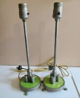 """Beautiful Pair Vintage ART DECO  Small Table Lamps - 14""""h x 41/2""""w ( w/claw)"""