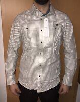 Neu G-Star RAW Hemd Gr M Shirts Langarm Shirt Liniert Sommer Freizeit