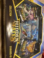 Pokemon Hidden Fates Collection Box Gyarados GX, Sealed New Booster Packs