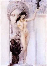 Allegorie der Skulptur Wien Secession Jugendstil Bütten Gustav Klimt A3 053