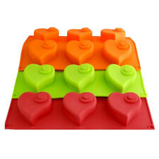 3D Silikon Backform 6 Herz Form Muffin Muffinform Kuchenform 29 x 17 cm
