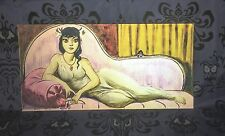 "UNFRAMED Cat Lady Haunted Mansion changing portrait lenticular 15X30"" Disney"
