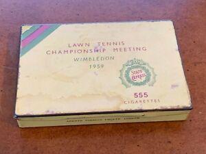 1959 Wimbledon Tennis Metal Box State Express Cigarette Holder