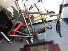Merlin Cyrene Titanium Road Bike Bicycle Frame w/ Carbon Fork and sealed 55cm