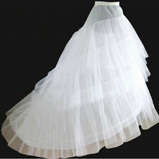 Tulle White Women Party Dresses Crinoline with Train Petticoat Gowns Underskirts
