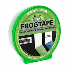 FrogTape 1358465 Multi-Surface Painting Tape, Green, 1.41-Inch x 60-Yard Roll