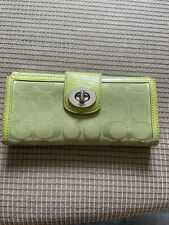 Authentic Coach Wallet Green