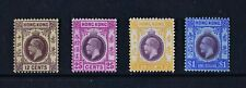 HONG KONG, KGV, 1912 / 21, four (4) stamps from set to $1 value, MNG, Cat £81.