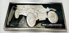 1974 STERLING SILVER FRANKLIN MINT CENTENNIAL CAR INGOT-1903 LANCHESTER-1.92 oz