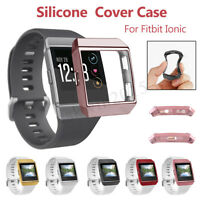 Silicone Rubber Frame Skin Cover Protective Case For Fitbit Ionic Smart Watch