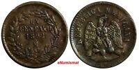 Mexico SECOND REPUBLIC Copper 1892 Mo 1 Centavo Mexico City Mint KM# 391.6