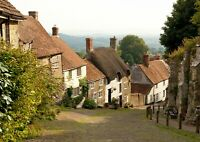 A3| Gold Hill Shaftsbury Dorset Poster Size A3 UK Landscape Poster Gift #16121