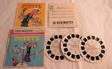 1962 Popeye Lot 3 View-master Reels w Booklet Cartoon Favorites King Features