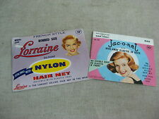 Vtg Lorraine Dupont Jac-o-net French Style Snood Hairnets