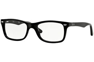 New Authentic Ray Ban RB 5228 2000 Shiny Black Eyeglasses 53-17-140