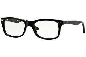 New Authentic Ray Ban RB 5228 2000 Shiny Black Eyeglasses 53-17-140