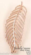 LIGHT AS A FEATHER Authentic PANDORA Rose GOLD Plated CZ Stones PENDANT