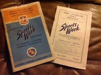 Vintage Programme Anglo Netherlands Norwich Sports Week 3rd - 10th Sep 1947