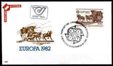 Erste Pferdeeisenbahn Linz-Freistadt-Budweis(1832). FDC.Österreich 1982