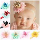 Baby Toddler Kids Girl Flower Crown Tiara Birthday Party Headband Photo Props