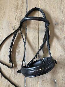 Trense Vollblut schwarz von Loesdau Englisch mit Glitzer aus Leder