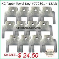 Kimberly Clark #770301 - Paper Towel and Toilet Tissue Dispenser Key - (12/pk.)
