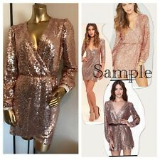 New Fashion Women's COOPER SEQUIN MINI DRESS----M---CUTE!