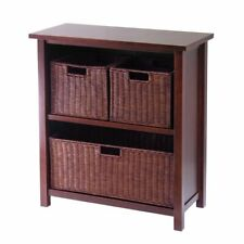 Winsome Wood 94238 Milan Four-Piece Cabinet/Shelf