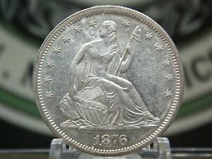 """1876 """"S"""" Seated Liberty Half Dollar 50c #1 East Coast coin & Collectables, Inc."""
