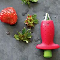 Strawberry Berry Stem Gem Leaves Huller Removal Fruit Corer Kitchen Tool gift