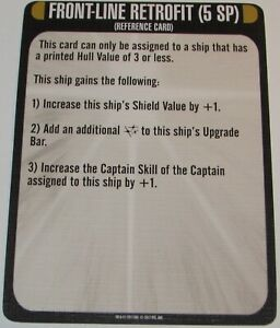 FRONT-LINE RETROFIT RESOURCE CARD Star Trek Attack Wing resource RUMBLE OP