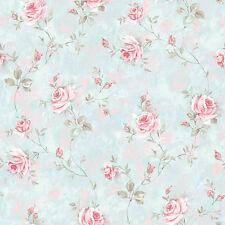 RG35734-Jardín de Rosas Rosas Flores Azul Rosa Gris Topo GALERIE WALLPAPER