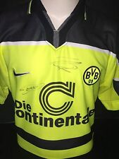 Signed Retro Borussia Dortmund Shirt by Lars Ricken plus 1