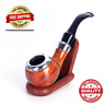Classic Wood Grain Tobacco Pipes Chimney Filter Herb Grinder Smoking Collectible
