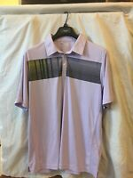 ⛳ Mens - ADIDAS GOLF - Polo CLIMACOOL Shirt Golf Purple Stripe L Large 🏌️