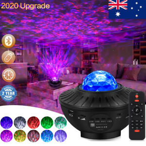 Bluetooth LED Galaxy Starry Night Light Projector Ocean Star Sky Party Lamp Gift