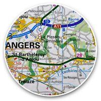 Maine-et-Loire carte 1905 old map ANGERS antique town city plan de la ville