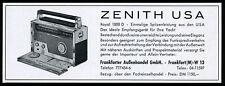 Reklame Werbung 1960 ZENITH Royal 1000 D Kurzwellenempfänger