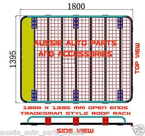 Tradesman Style Steel Open Ends Roof Rack 1800mm for Toyota Hiace Van w/ Bracket