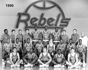 1990 UNLV 8X10 TEAM PHOTO RUNNIN REBELS PICTURE NCAA BASKETBALL CHAMPS