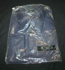 giorgio Ferraro Designer Dress Shirt Size 16 x 34-35 NWT NAvy Blue French Cuff