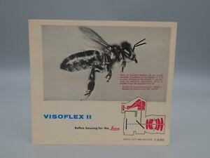 "Original 1962 ""VISOFLEX II REFLEX HOUSING"" Leica/Leitz Brochure"